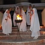 cerimonia d'accensione del fuoco